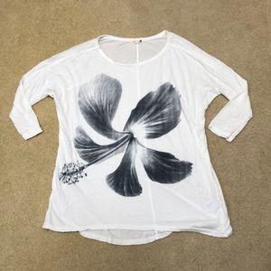 Sundry Black & White Hibiscus 🌺 Shirt